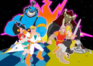 Space ace and Dragon's Lair by AlanSchell