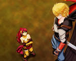 Pyrrha and Jaune in the Forest
