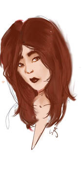 red head sketch