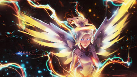 Wallpaper | Collab | Mercy | Overwatch