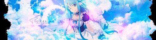 Header | Sword art online | Asuna | July by oOnadileeOo