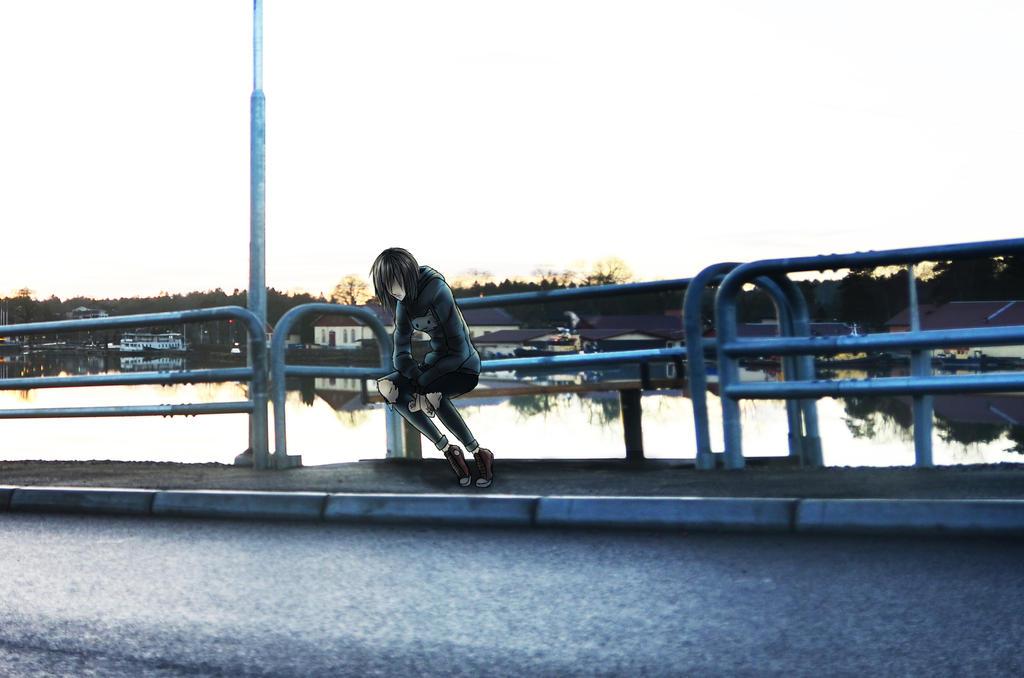 Alone on a bench by bunslake