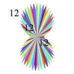 121212 Rainbow Fan
