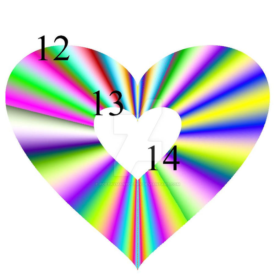 12/13/14 Rainbow Heart by poetrymanpoetry