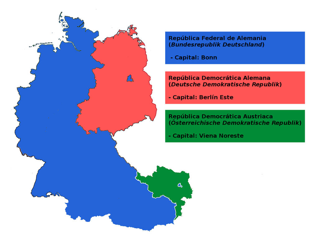 Map Of East West Germany.West Germany East Germany And East Austria By Matritum On Deviantart