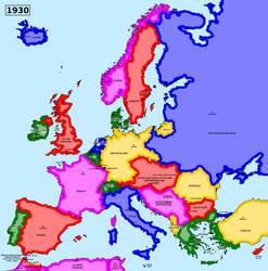 Map of an alternate interwar Europe (1930)