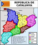Map of Republic of Catalonia