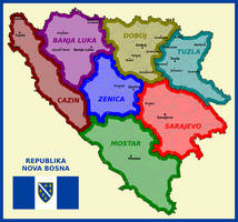 Map of Republic of New Bosnia by matritum