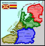 Map of Batavia (Spain)