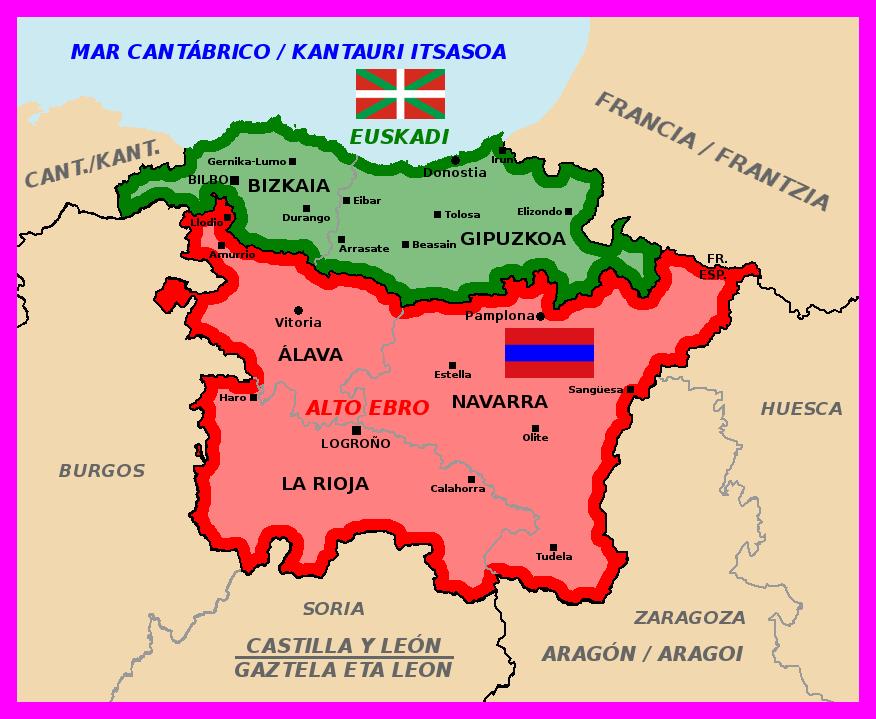 Map Of Spain Eibar.Map Of Euskadi And Upper Ebro By Matritum On Deviantart