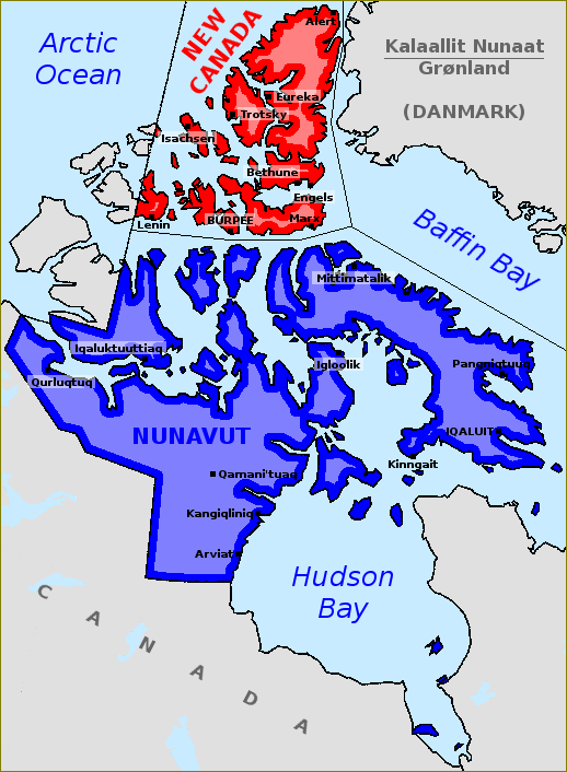 Map Of Canada Nunavut.Map Of Nunavut And New Canada By Matritum On Deviantart