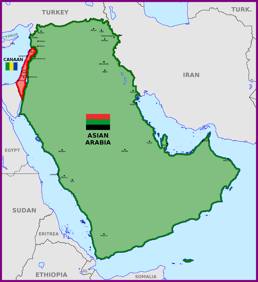 map of asian arabia and canaan by matritum on deviantart