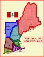 Map of Republic of New England