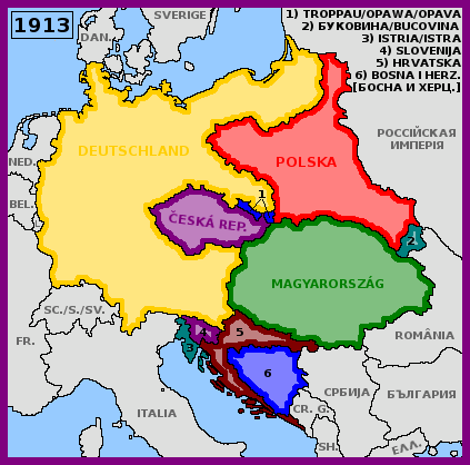 Map of alternative Central Europe (1913) by matritum on DeviantArt