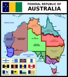 Map of Federal Republic of Australia by matritum
