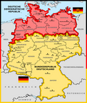 North and South Germany after WWII