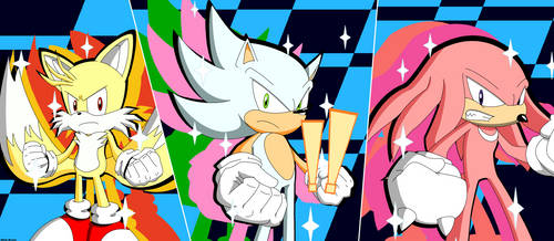 Team Hyper Sonic All Out Attack - COMMISION