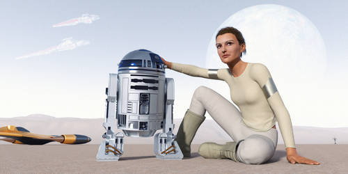 Padme and R2D2