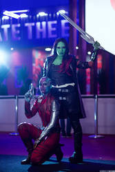 Nebula and Gamora cosplay ~ CCXP18 by FLovett