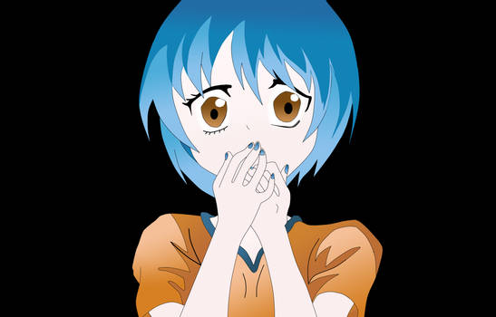 Shocked manga girl ~ digital art by Portal2junkie97