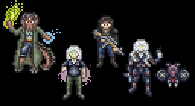 Shadowrun Team by Balduranne