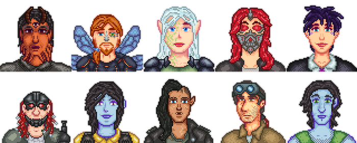 64x Shadowrun Portraits