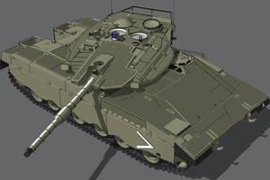 Merkava MK III  BAZ upgrade by louielikespie