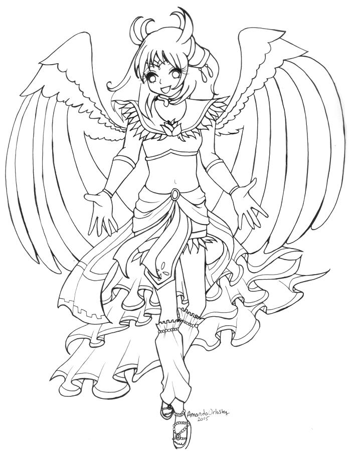 WIP Sailor Garuda Linework by pristinepanda