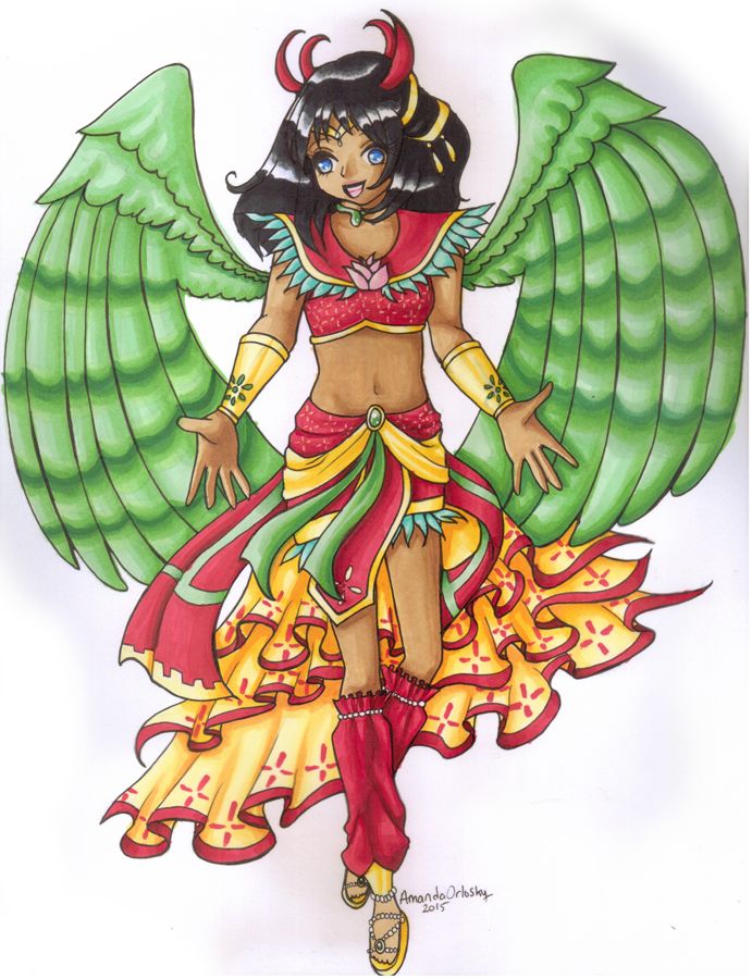 Sailor Garuda for aeraellyth by pristinepanda