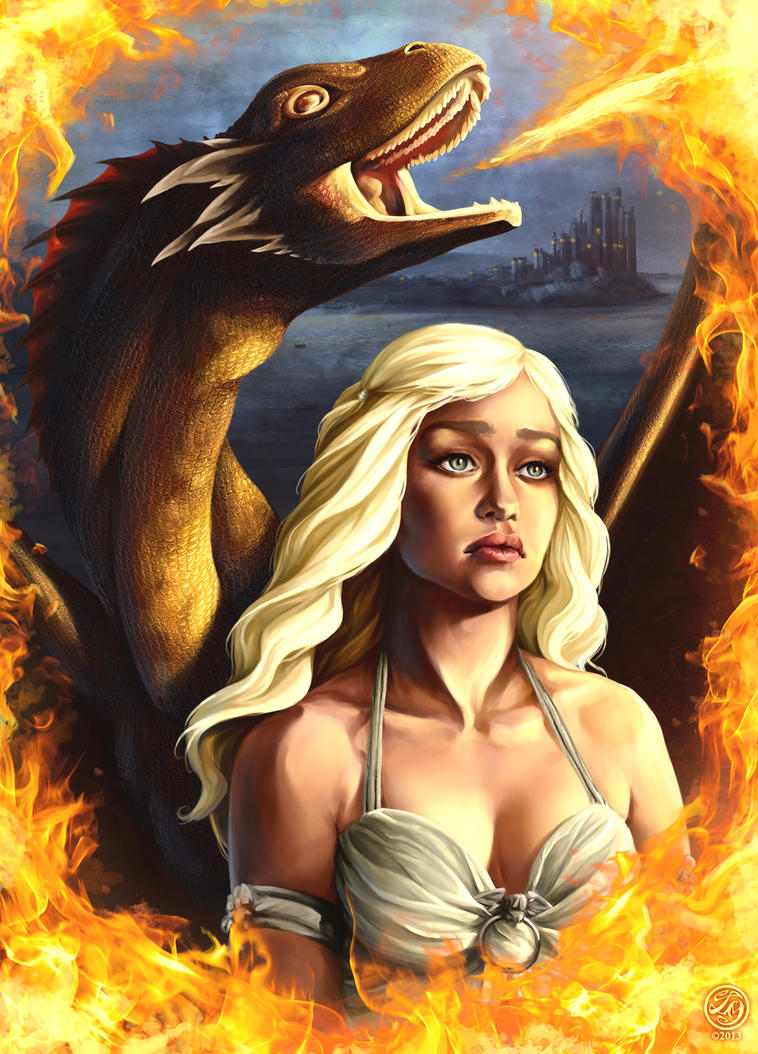 Daenerys Targaryen, The Mother of Dragons by CatherineSteuer