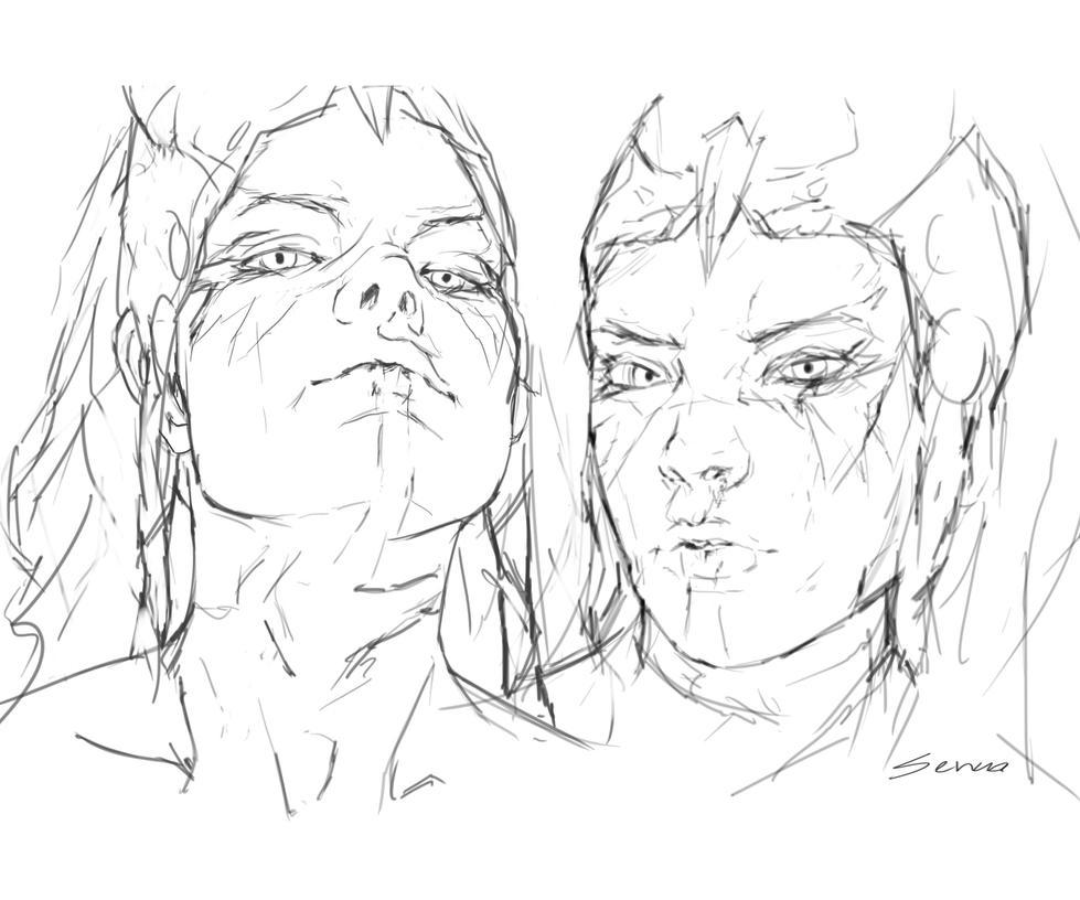 Senua sketches by DestinyBlooms