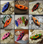 Mini Kayak Keyring by KellysKrafts