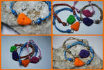 Climbing Hold Microcord Bracelet by KellysKrafts
