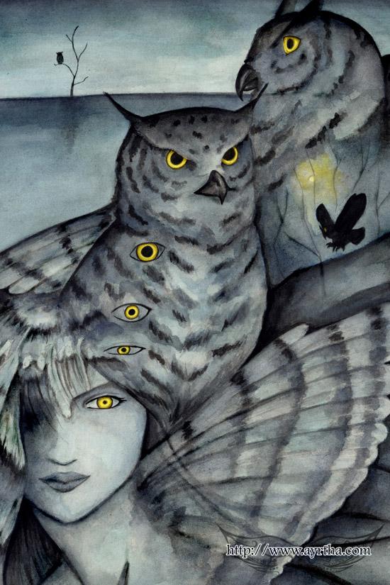 Owl Lady by Ayrtha