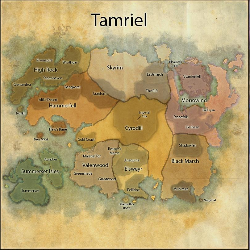 Elder Scrolls Online World Map Elder Scrolls Online World Map Overview by NathN on DeviantArt