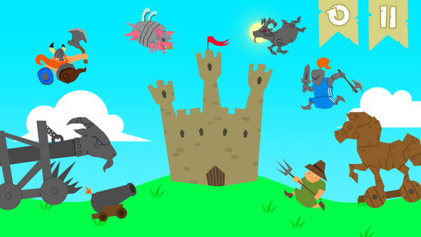 Castle Defend Game Concept by Imirr