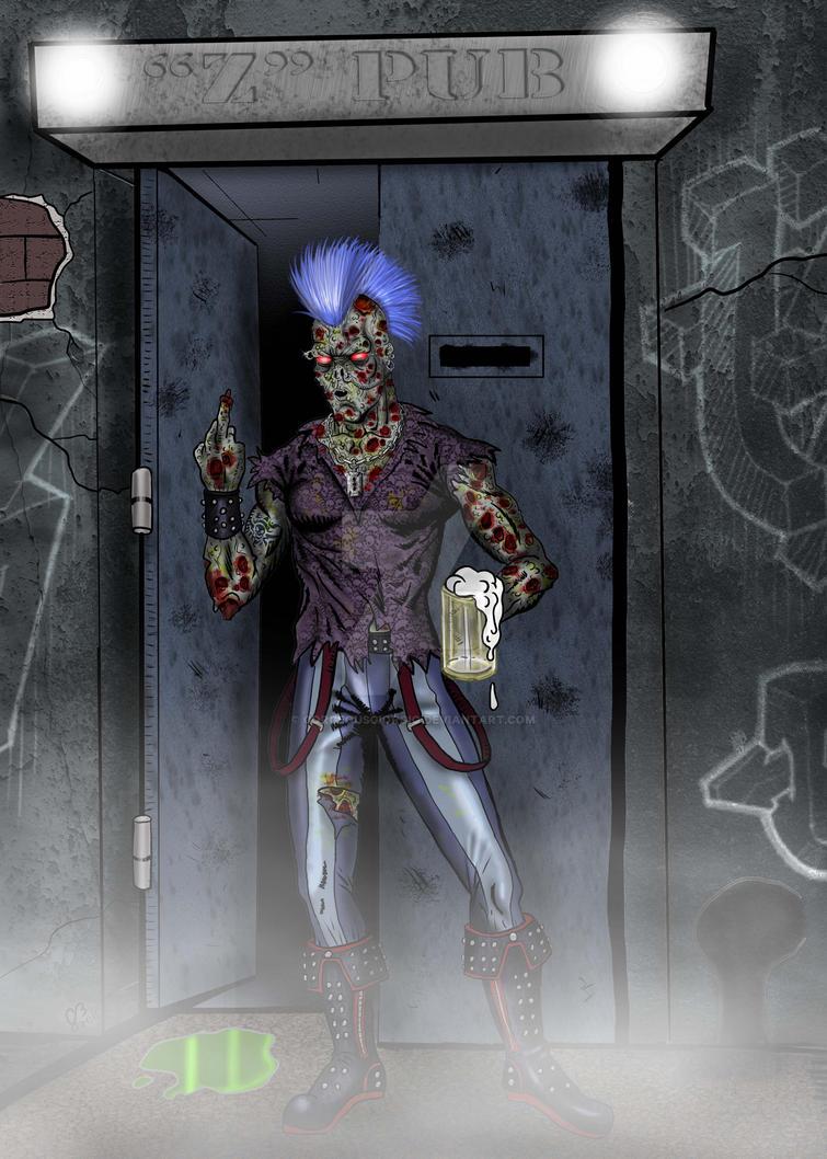 Zombie Drinker by GorgeousGiorgio