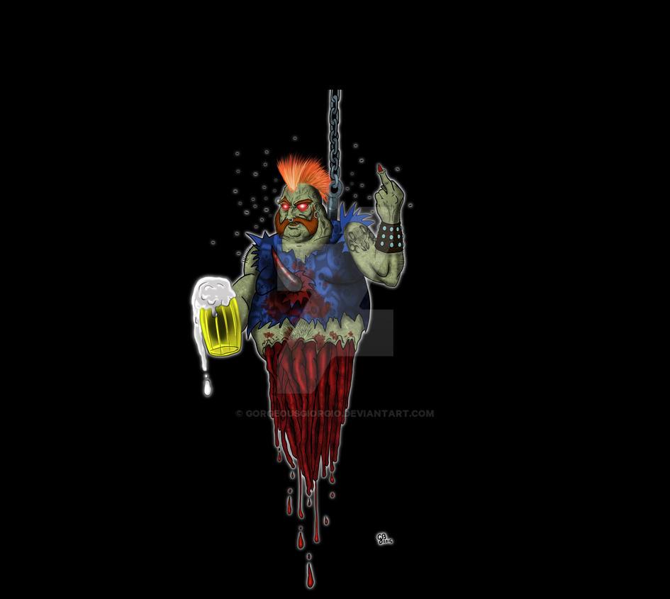 zombie drunk by GorgeousGiorgio