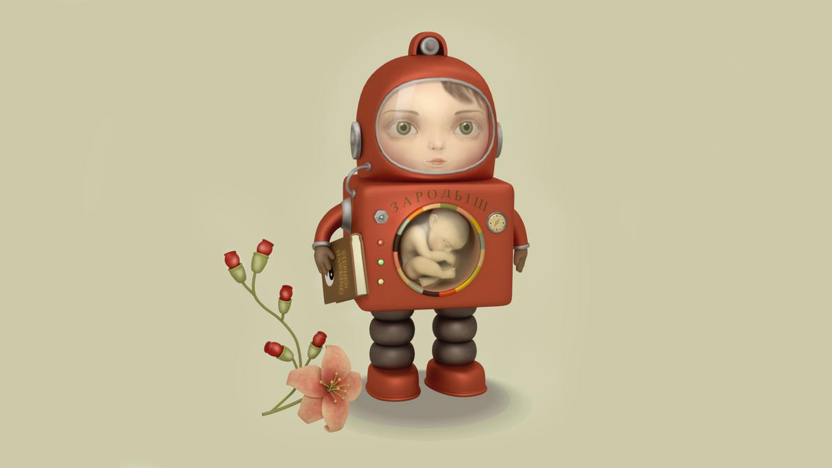 Sputnik Princess 3D model render by MarikoSusie