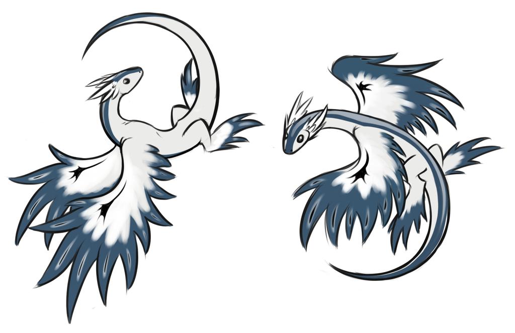Glaucus Wyverns by AngelicDragonPuppy