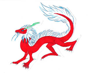 Chinese Fire Wyrm by AngelicDragonPuppy
