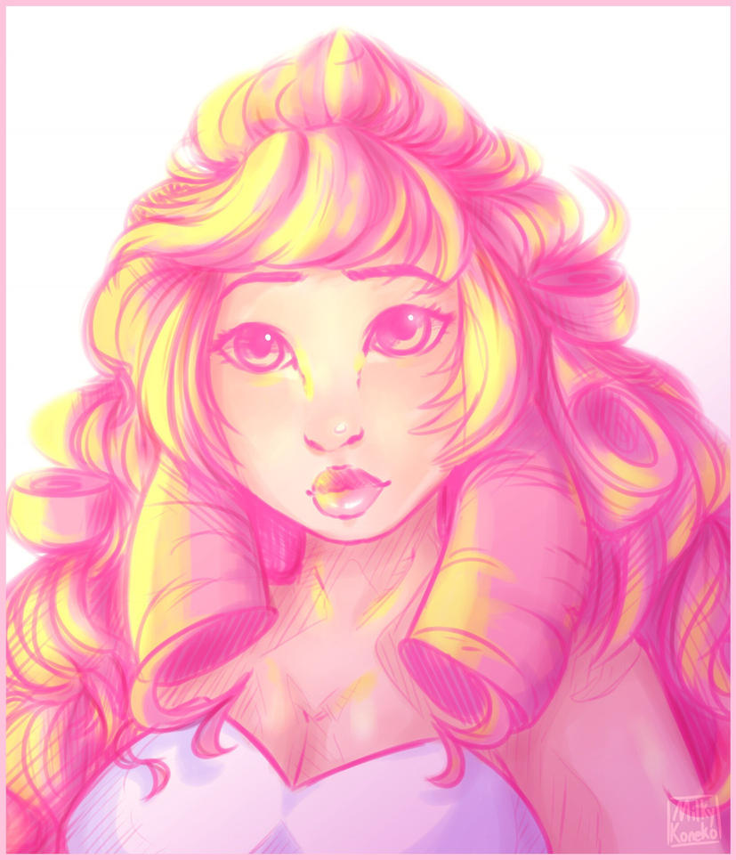 I saw this really pretty cosplay of Rose from Steven Universe so I had to draw it, the cosplayer was maphix on instagram I believe, super talented!!! Also I will never finish this! It will remain a...