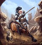 Centaur Charge by Galder