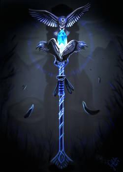 Raven Mage Commander Staff