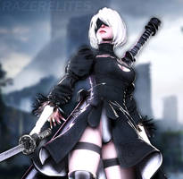 2B (Updated) by Its-Midnight-Reaper