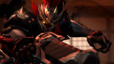 Lu Bu by Its-Midnight-Reaper