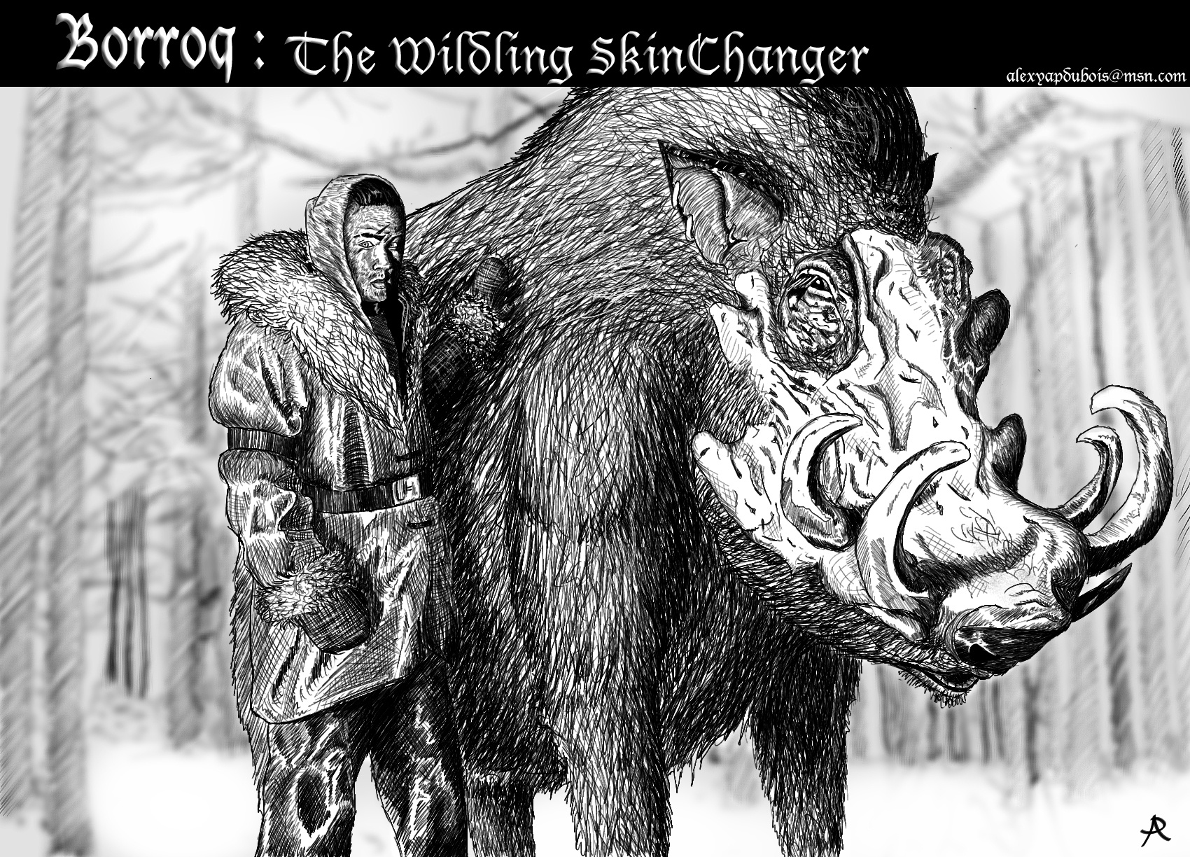 Borroq: The Wildling Skinchanger by YapAttack on DeviantArt