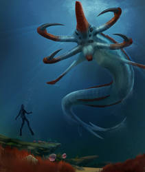 Subnautica - Reaper by quvr