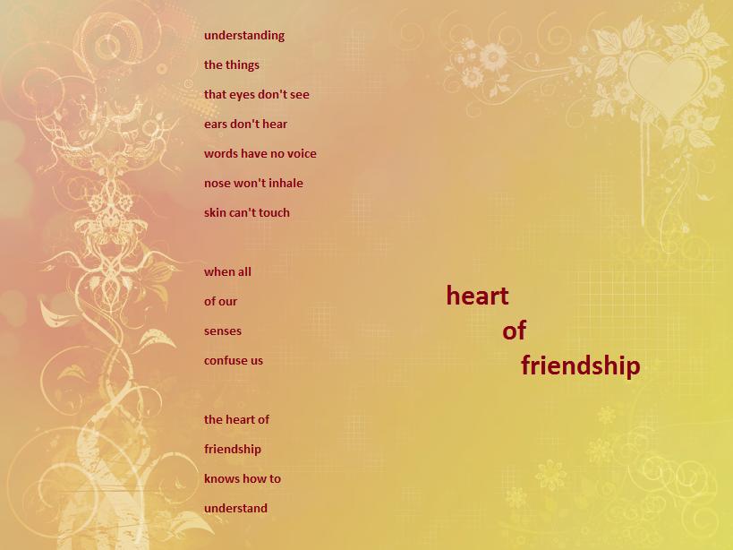 Heart of Friendship by WalkinginDreamlight