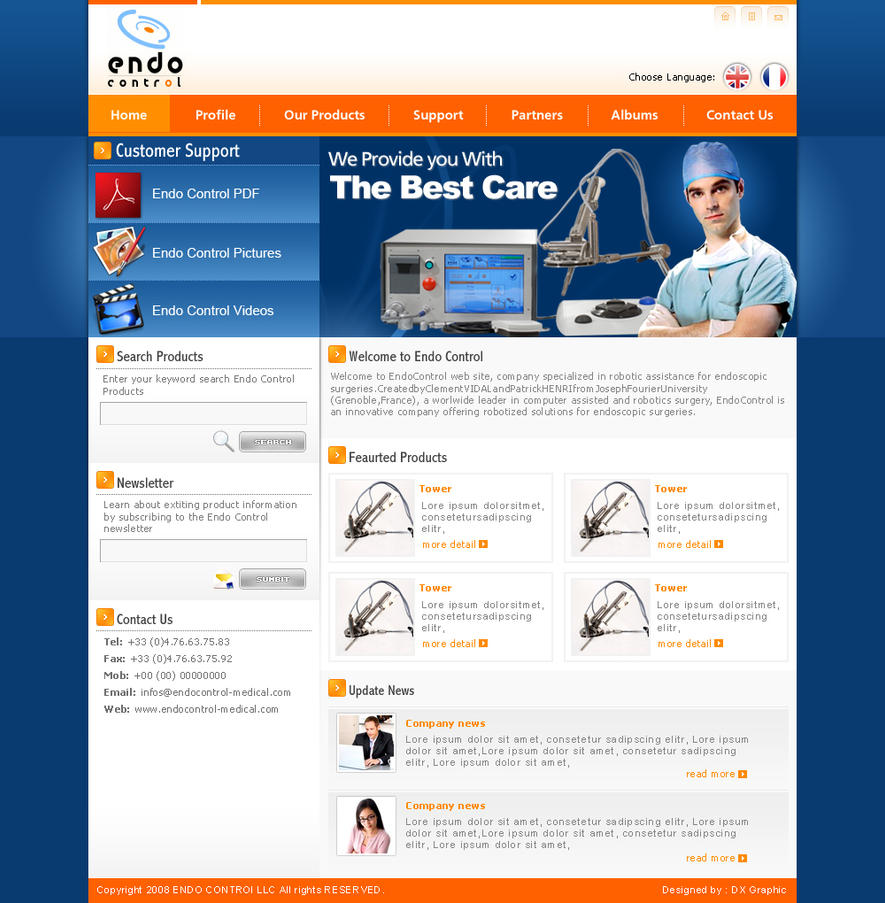 Endo Control by: dxgraphic by WebMagic